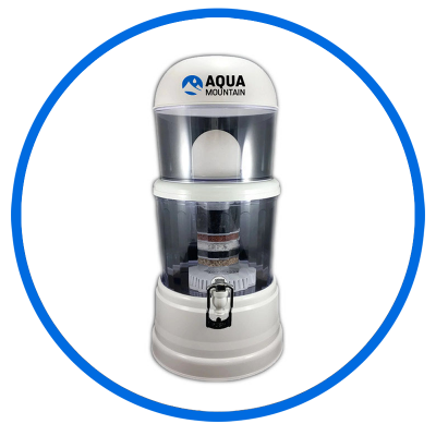 alkaline water filter benchtop fountain