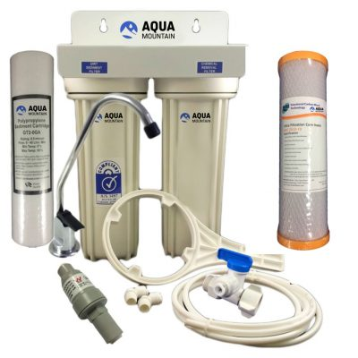 Under sink water filter for tank water