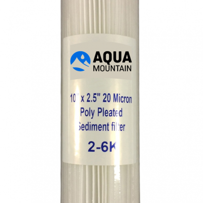 "10"" x 2.5"" pleated polyspun filter cartridge"