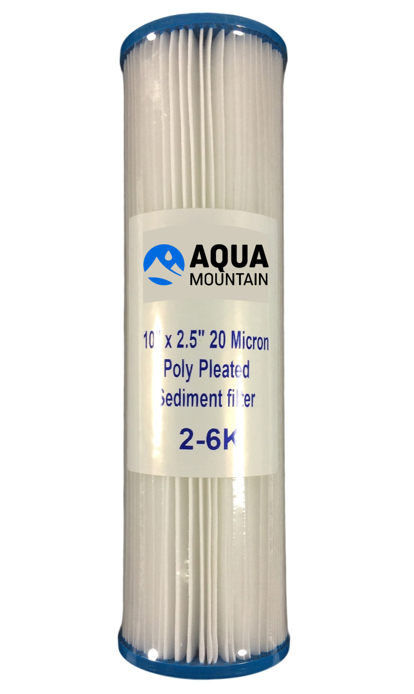 """20/"""" x 2.5/"""" 5  Micron Reusable New 4 x Pleated Water Filter Cartridge"""
