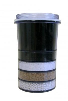 Fluoride reduction water filter cartridge